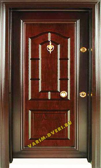 дверь наружная входная из массива сосны